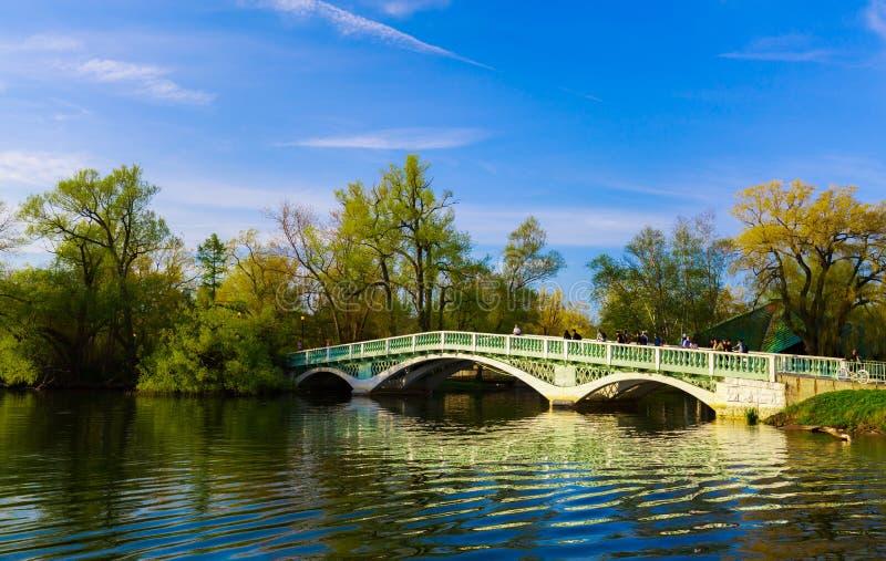 老在多伦多中心海岛的葡萄酒减速火箭的样式桥梁美好的邀请的看法有人走的 免版税库存图片