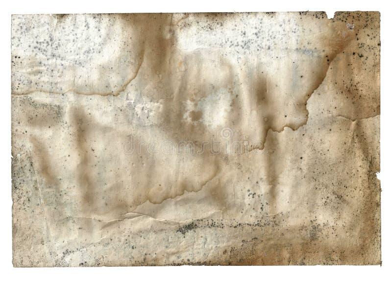 老在白色的葡萄酒肮脏的被撕毁的空白页书 库存照片