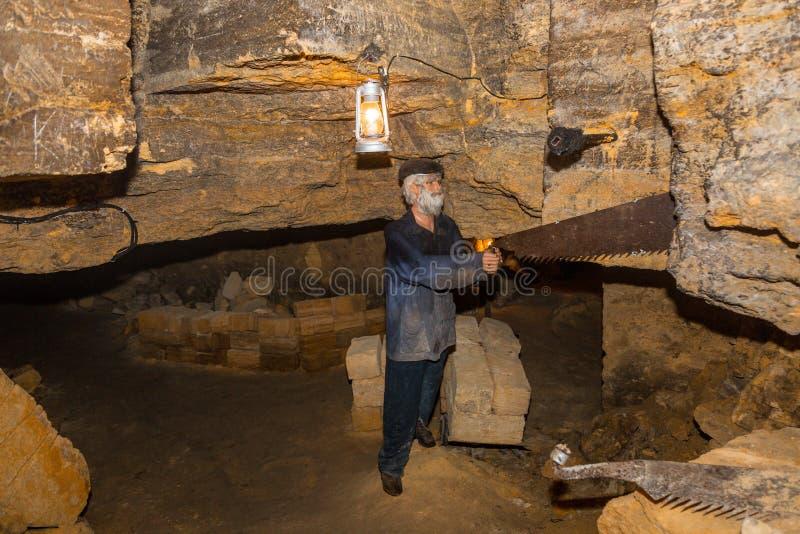 老地下墓穴傲德萨,乌克兰 免版税库存照片