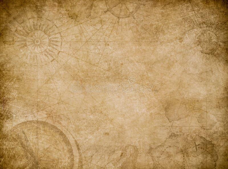 老地图摘要葡萄酒背景 向量例证