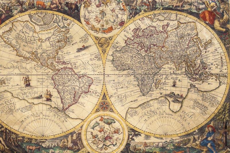 老地图 库存照片