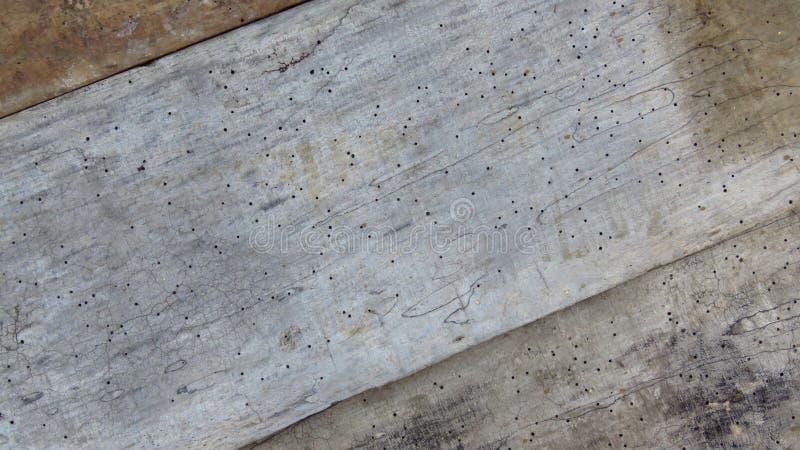 老地板镶边破裂的板条 葡萄酒灰色木材虫蚀由蚀船虫 免版税库存照片