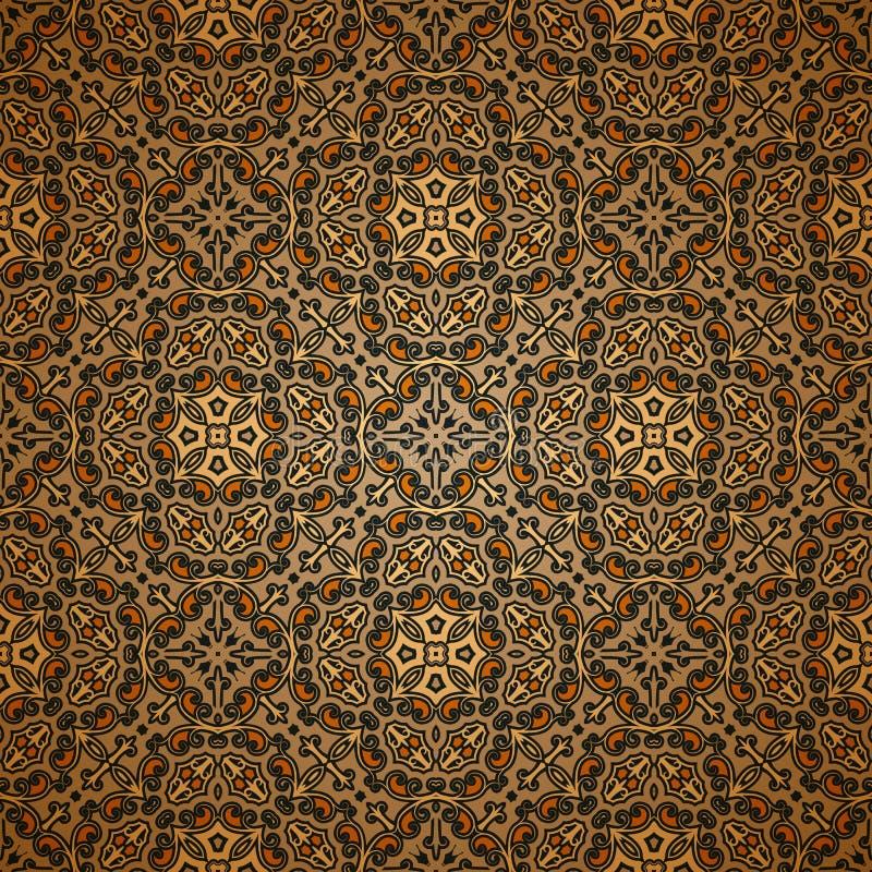 老地毯样式 皇族释放例证