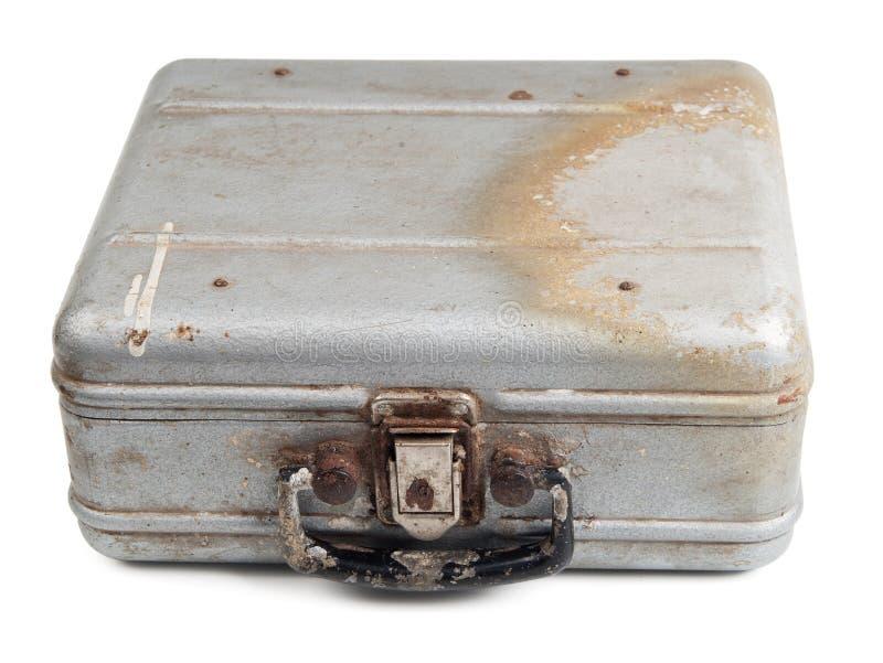 老坏的金属盒 库存图片