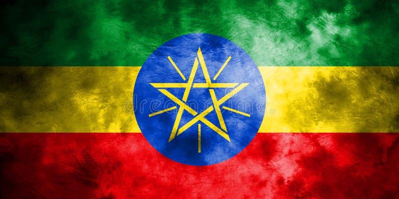 老埃塞俄比亚难看的东西背景旗子 库存例证
