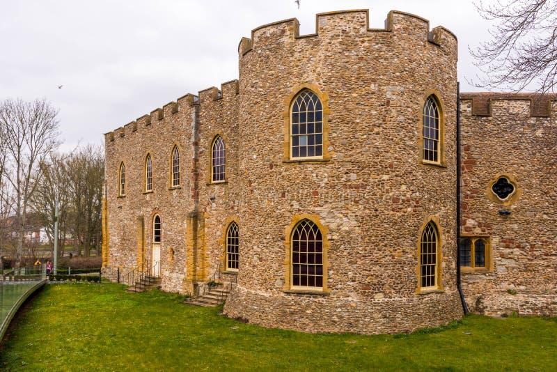 老城堡在萨默塞特 免版税库存图片