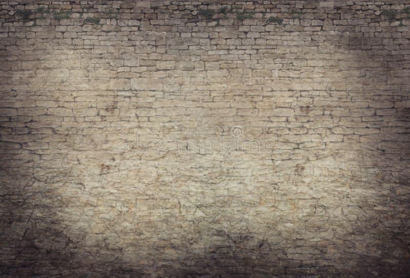 老城堡墙壁背景 免版税库存图片