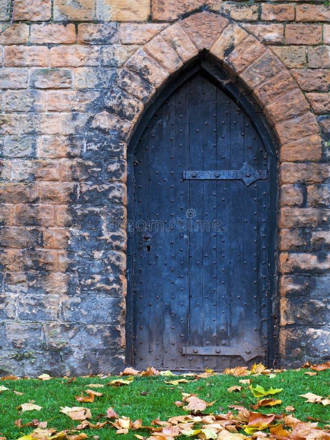 老城堡门 库存照片