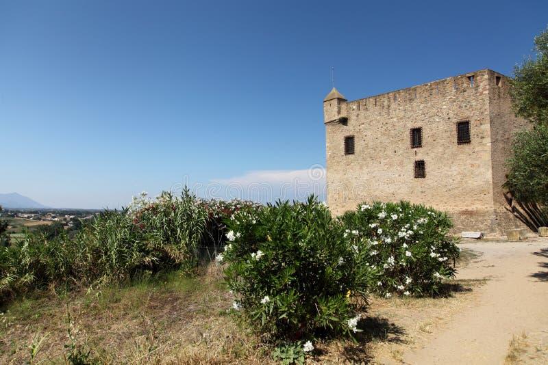 老城堡- Aleria,可西嘉岛 图库摄影