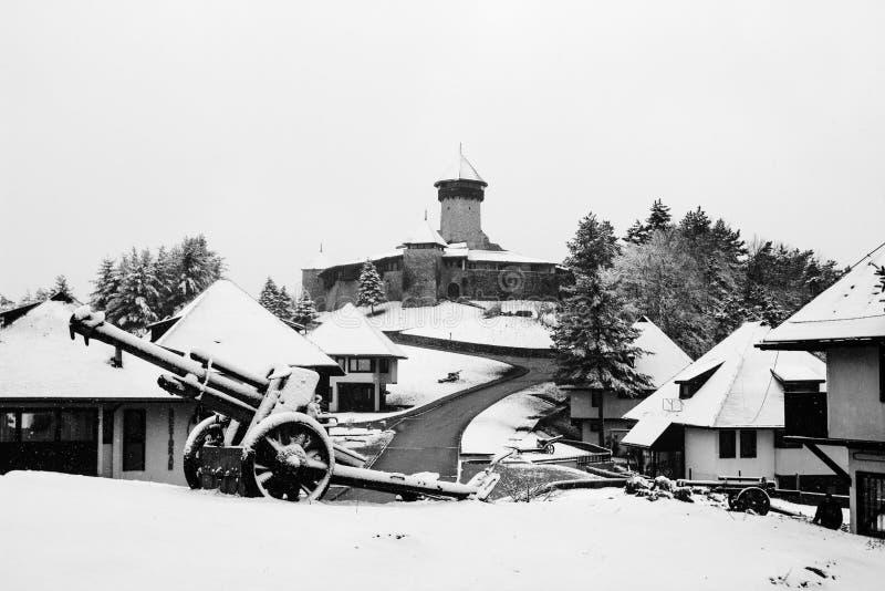老城市和城堡Velika Kladusa 免版税库存照片