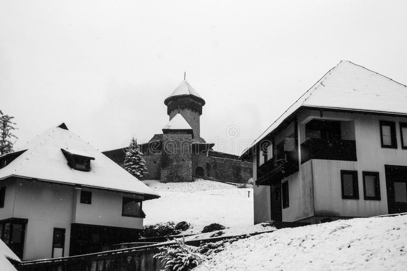 老城市和城堡Velika Kladusa 库存图片