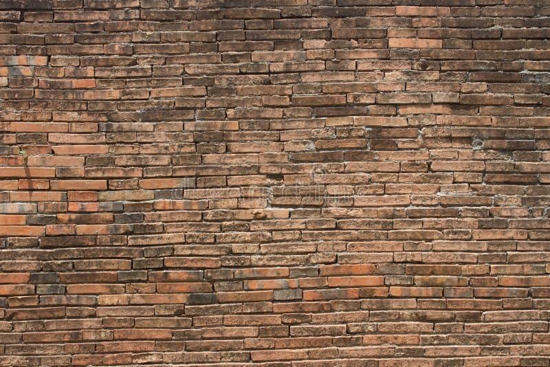 老城市砖墙在Nakhon Si Thammarat 免版税库存照片