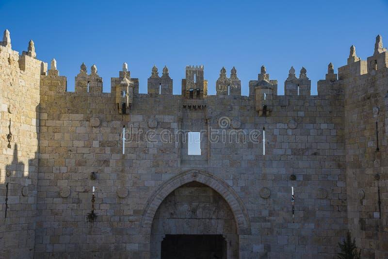老城市耶路撒冷大马士革门  免版税库存照片