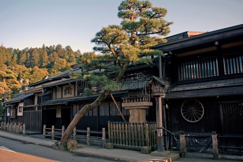 老城市,高山市,日本 免版税库存照片