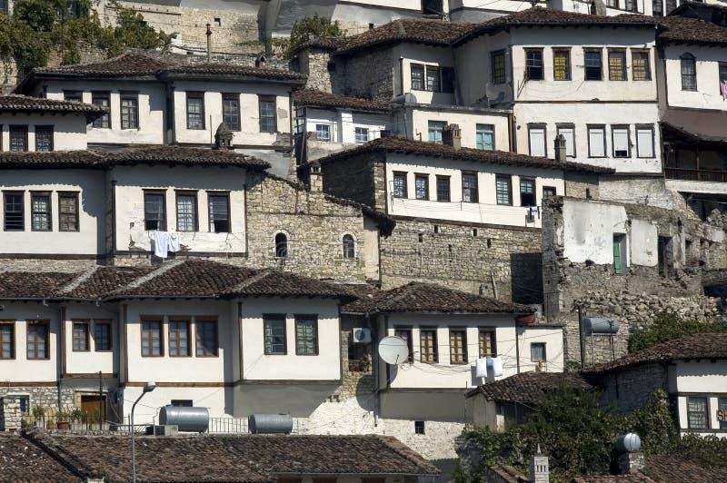 老城市, Berati,阿尔巴尼亚 免版税库存照片