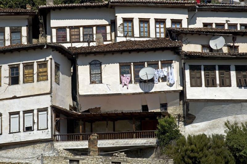 老城市, Berati,阿尔巴尼亚 库存照片