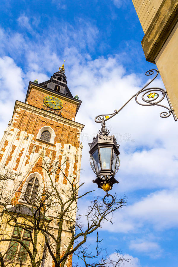 老城镇厅在克拉科夫,波兰,欧洲 免版税库存图片