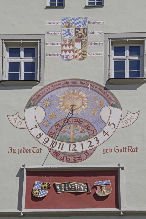 老城镇厅在德根多尔夫 免版税库存照片