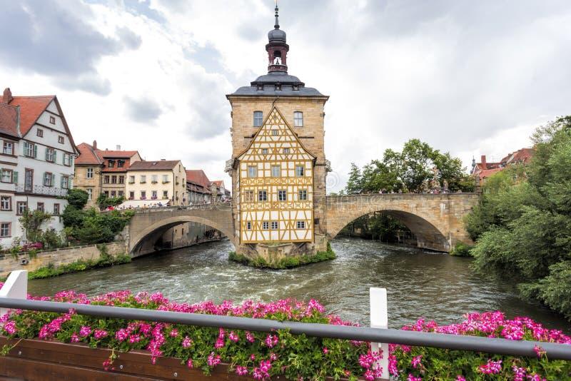 老城镇厅在琥珀,德国 免版税库存照片