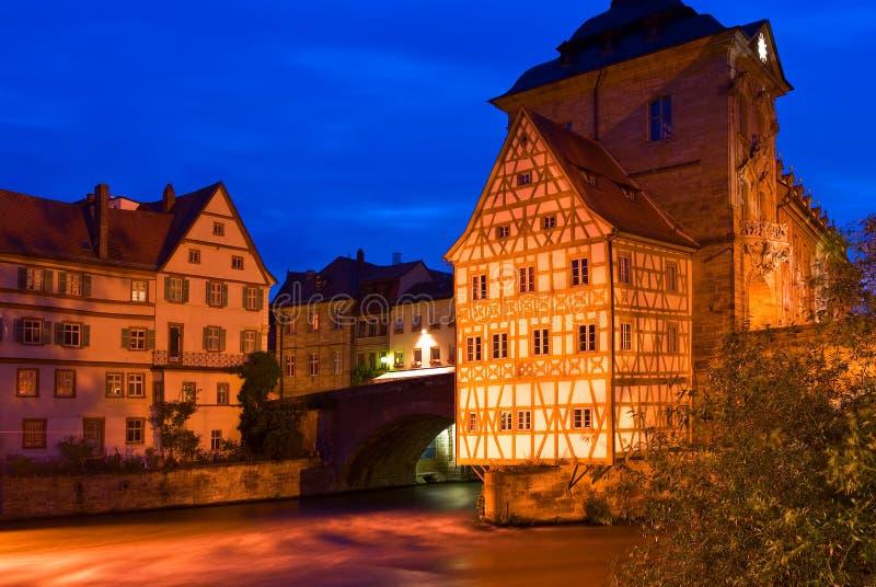 老城镇厅在琥珀,德国 免版税图库摄影