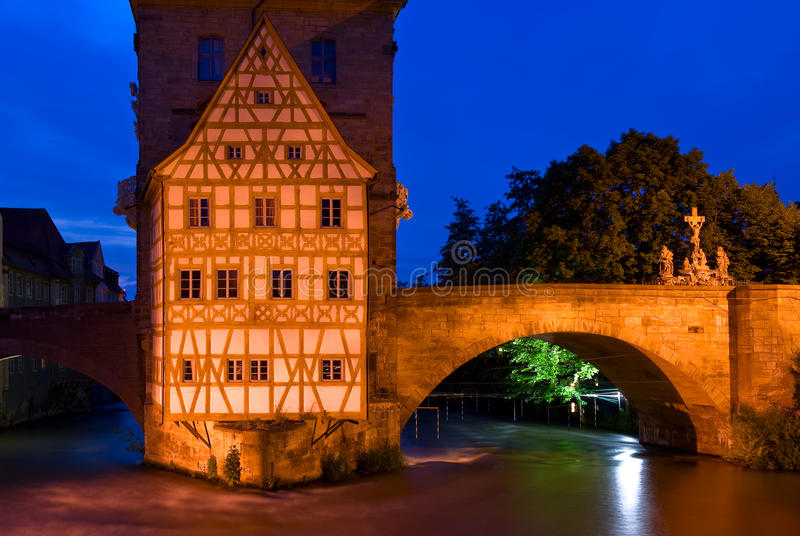 老城镇厅在琥珀,德国 库存照片