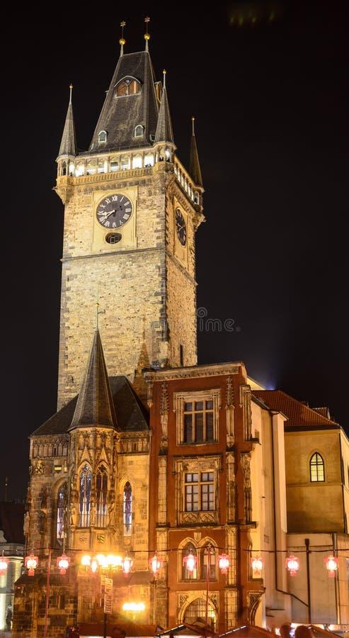 老城镇厅布拉格 库存图片