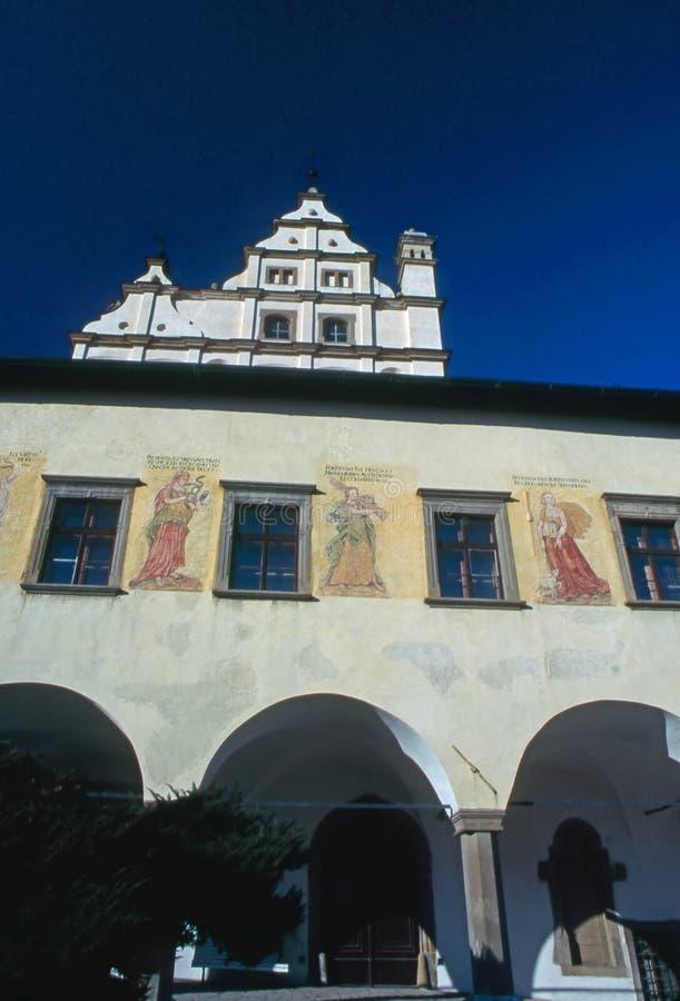 老城镇厅 库存图片