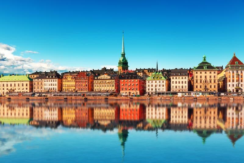 老城镇在斯德哥尔摩,瑞典 免版税库存图片