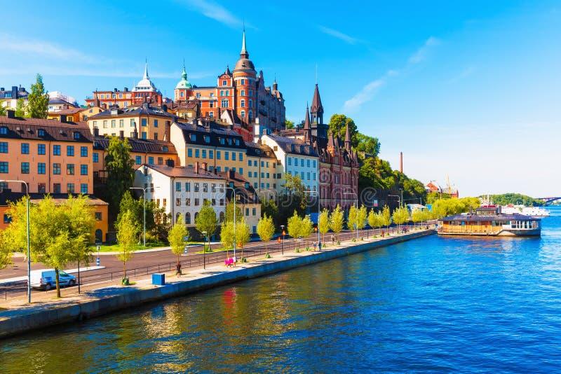 老城镇在斯德哥尔摩,瑞典 免版税图库摄影