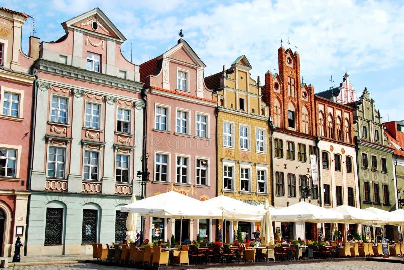老城镇在波兹南 图库摄影
