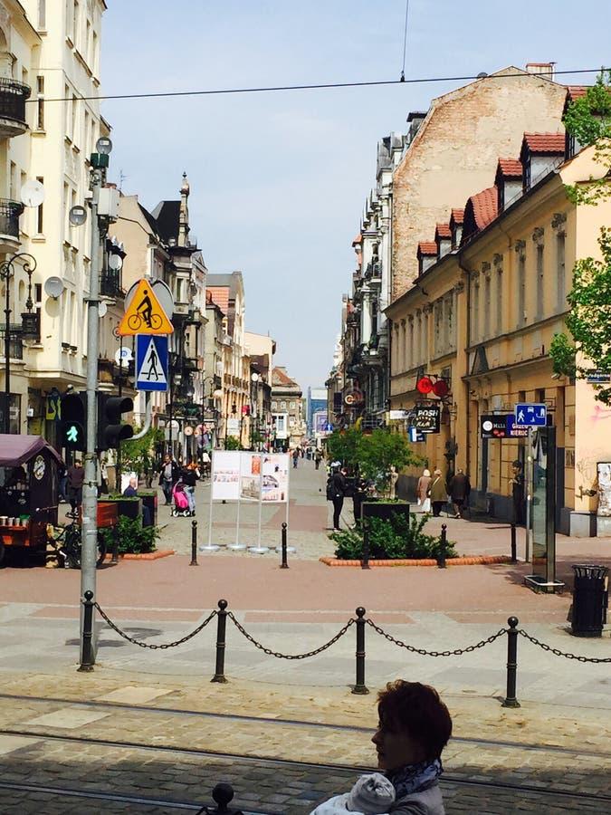 老城镇在波兹南 库存照片