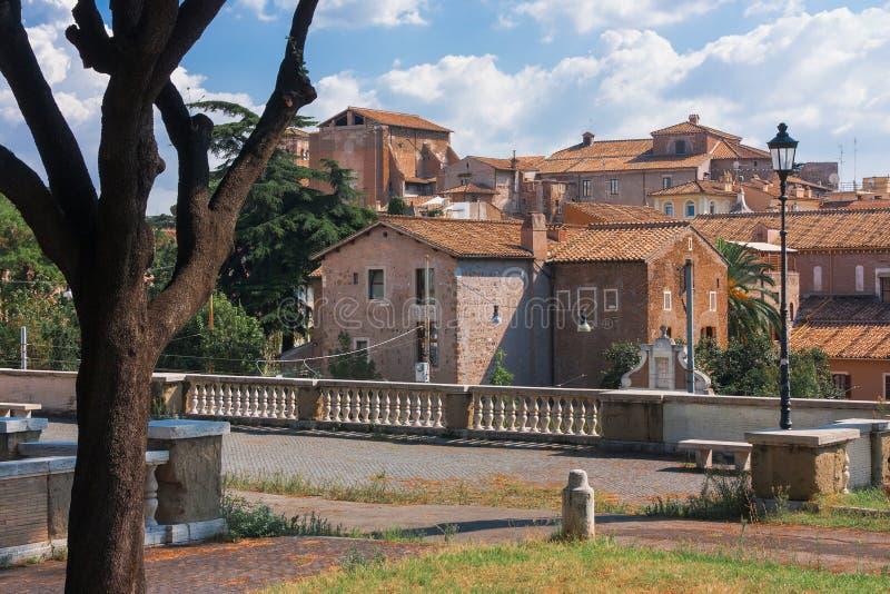 老城镇在罗马 免版税图库摄影