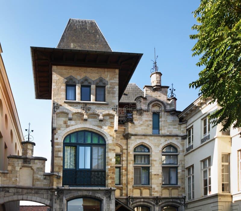 老城镇 跟特 富兰德 比利时 免版税库存图片