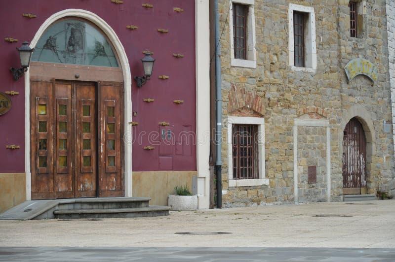 老城镇 库存照片