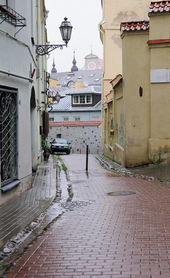 老城镇 免版税库存图片