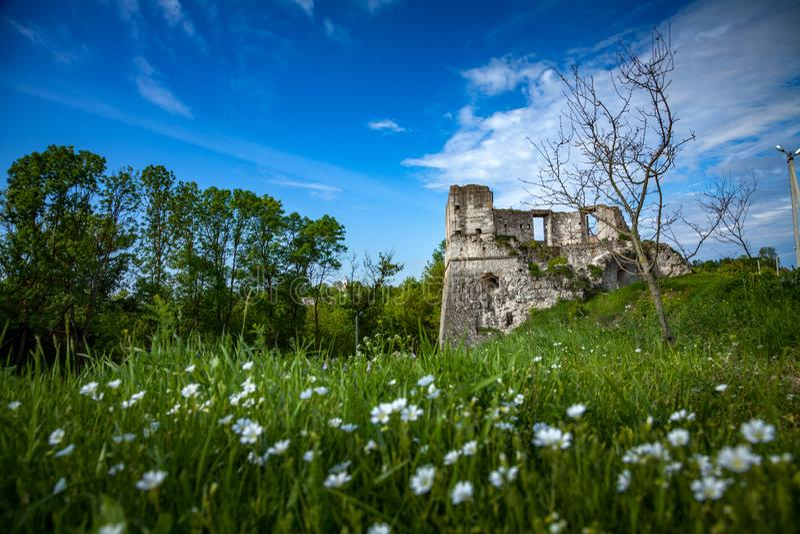 老堡垒废墟  库存图片