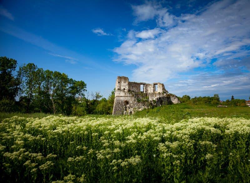 老堡垒废墟  免版税库存照片