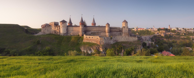 老堡垒的全景 库存图片