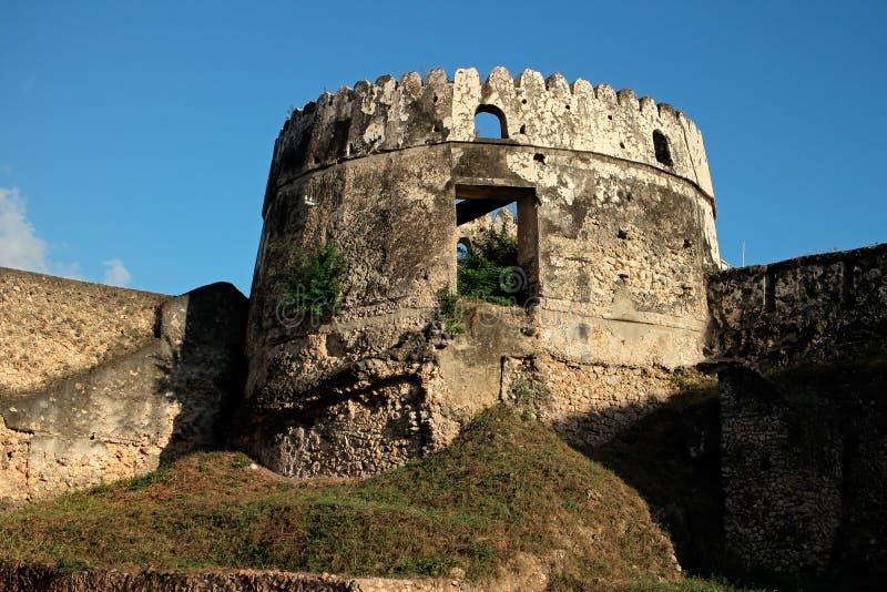 老堡垒-桑给巴尔 库存图片