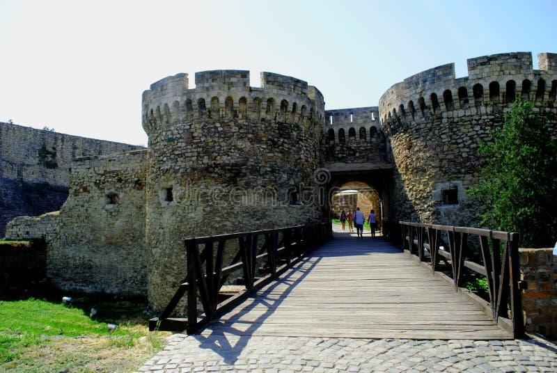 老堡垒Kalemegdan在贝尔格莱德塞尔维亚 图库摄影