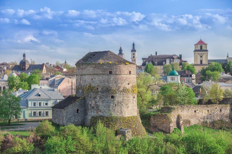 老塔在Kamianets Podilskyi 库存照片