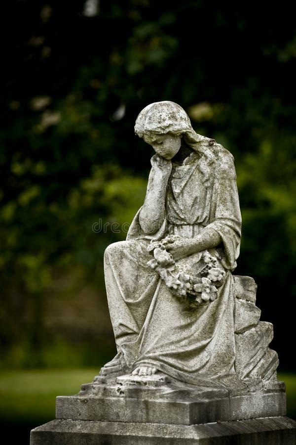 老墓地天使 库存照片