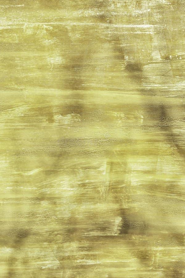 老墙壁参差不齐地绘与肮脏的绿色油漆 没被弄脏的地方、抓痕和污点纹理  ?? 免版税图库摄影