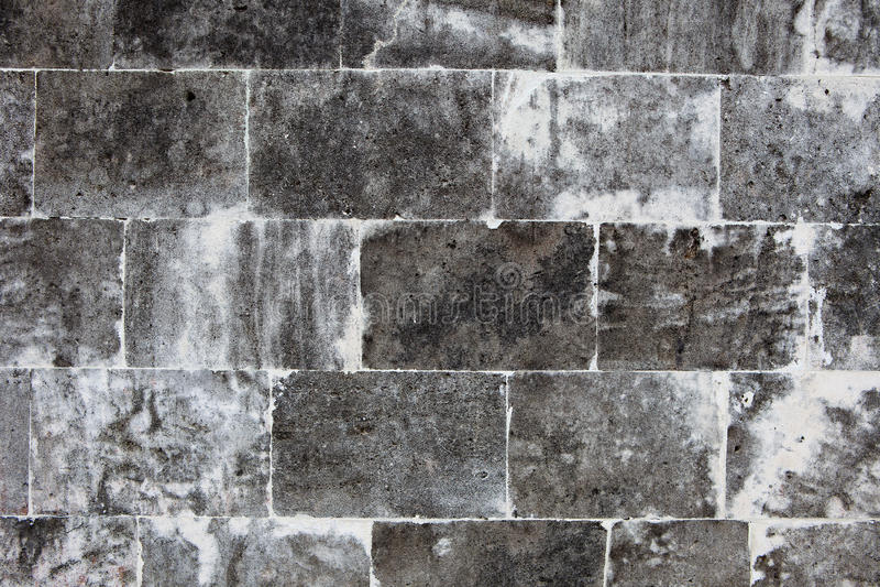 老墙壁由轻的石头做成 免版税库存图片