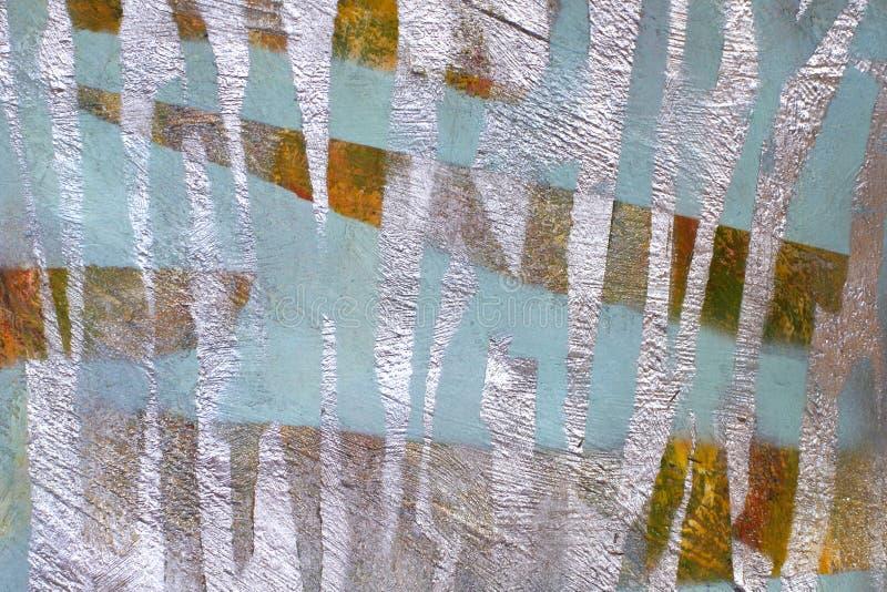 老墙壁背景有没有漆的色的斑点的 库存照片
