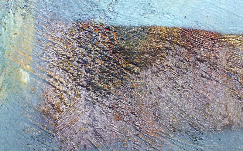 老墙壁背景有没有漆的色的斑点的 免版税库存照片