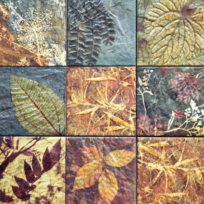 老墙壁陶瓷砖样式从泰国公众手工造 库存图片
