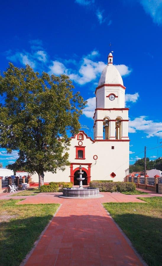 老墨西哥教会 库存照片