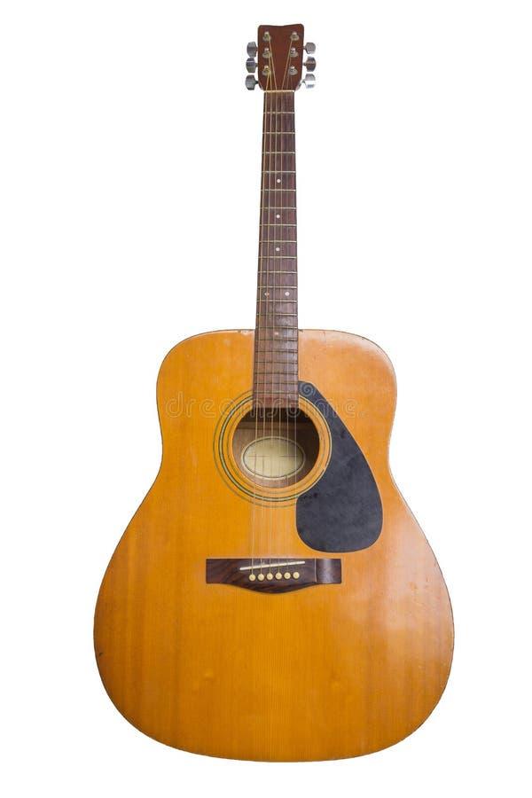 老声学吉他 库存照片