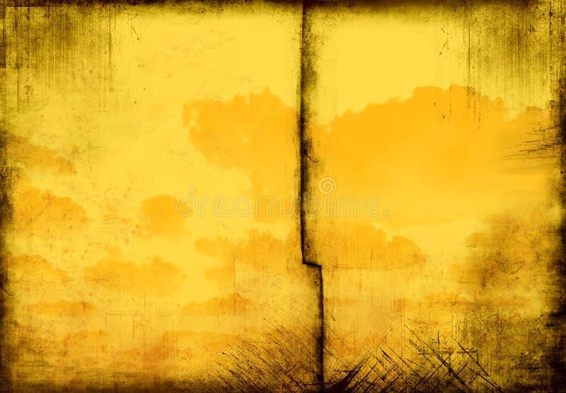老多云框架grunge 库存照片